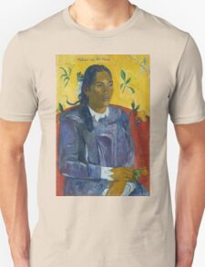 Paul Gauguin - Tahitian Woman with a Flower  Unisex T-Shirt