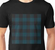 90's Buffalo Check Plaid in Evergreen Forrest + Black Unisex T-Shirt
