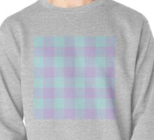 90's Buffalo Check Plaid in Aqua Mint and Lilac Pastel Pullover