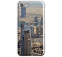 Photography of tall buildings, skyscrapers from Dubai seen from above. United Arab Emirates. iPhone Case/Skin