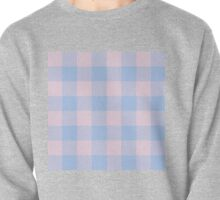 90's Buffalo Check Plaid in Baby Blue and Baby Pink Pullover