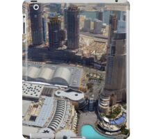 Photography of tall buildings, skyscrapers from Dubai seen from above. United Arab Emirates. iPad Case/Skin