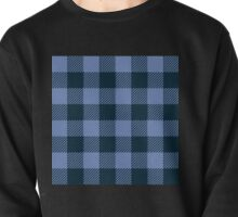90's Buffalo Check Plaid in Light Blue and Dark Blue Pullover
