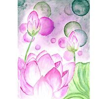 Lotus Flower Watercolor 3 Photographic Print