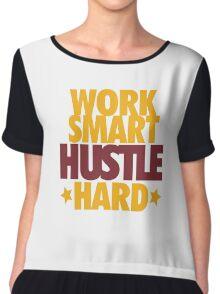 Work Smart Hustle Hard- Cavs Chiffon Top