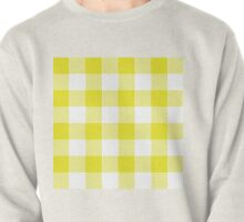 90's Buffalo Check Plaid in Flourescent Citrine and White Pullover