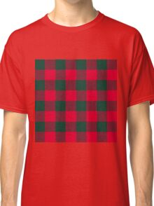 90's Buffalo Check Plaid in Red and Green Classic T-Shirt