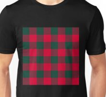 90's Buffalo Check Plaid in Red and Green Unisex T-Shirt