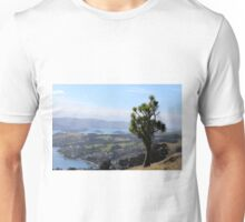 New Zealand Landscape - Cabbage Tree overlooking the Dunedin Harbour on the raod to Larnach's Castle. Unisex T-Shirt