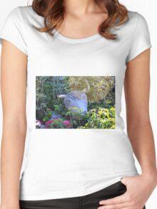 Bull garden ornament. Women's Fitted Scoop T-Shirt