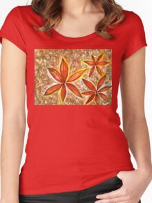 Wishing you a Merry Christmas with Poinsettias Women's Fitted Scoop T-Shirt