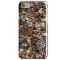 Black and white rock beach in Turkey iPhone Case/Skin