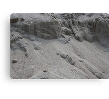 closeup of sand pattern of a beach Canvas Print