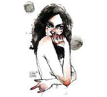 watercolor girl-gar Photographic Print