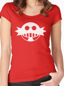 Dr. Eggman White Women's Fitted Scoop T-Shirt