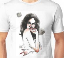 watercolor girl-gar Unisex T-Shirt