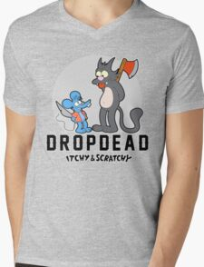 Dropdead : Itchy And Scratchy Mens V-Neck T-Shirt
