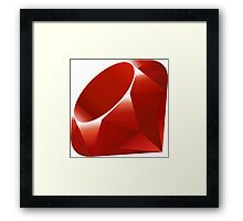 ruby logo Framed Print