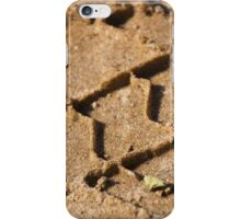 the marks of the wheels on the sand  iPhone Case/Skin