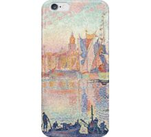 Paul Signac - The Port of Saint-Tropez .  French  Seascape  iPhone Case/Skin