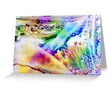 Encaustic Nr 04 - And the World Was Filled With Rainbow Colours Greeting Card
