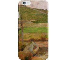 Paul Gauguin - Landscape near Pont-Aven  iPhone Case/Skin
