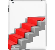 arrow climbing up the old concrete stairs iPad Case/Skin