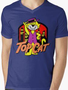 Top Cat Mens V-Neck T-Shirt