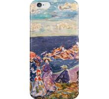 Maurice Prendergast - On the Beach 1907-1909  American Impressionism , Seascape  iPhone Case/Skin