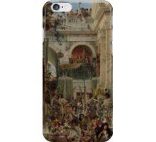 Lawrence Alma-Tadema - Spring 1894  , Roman Street.  iPhone Case/Skin