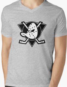 The Mighty Ducks Black Mens V-Neck T-Shirt
