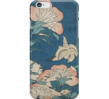 Katsushika Hokusai - Peonies and Canary Shakuyaku. Japanese Still Life . Flowers iPhone Case/Skin