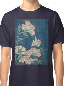 Katsushika Hokusai - Peonies and Canary Shakuyaku. Japanese Still Life . Flowers Classic T-Shirt