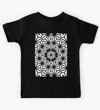 Asanoha Warped Tiled and Inverted Kids Tee