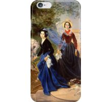 Karl Bryullov Bryullo - Portrait of the Shishmareva Sisters 1839 . Fashion Woman Portrait iPhone Case/Skin