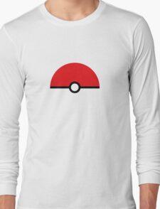 Flat half pokeball Long Sleeve T-Shirt