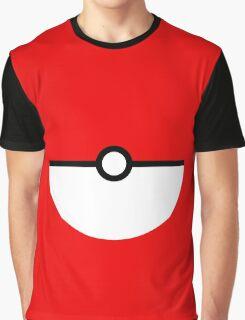 Flat half pokeball Graphic T-Shirt