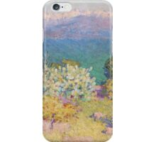John RUSSELL - In the morning, Alpes Maritimes from Antibes . Landscape , Flowers iPhone Case/Skin