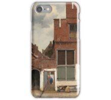 Johannes Vermeer - The Little Street Around 1658 iPhone Case/Skin