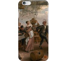Jan Steen - The Dancing Couple 1663 , Fashion , Romance iPhone Case/Skin