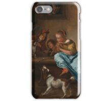 Jan Havicksz. Steen - Children Teaching a Cat to Dance, known as The Dancing Lesson 1660 - 1679 iPhone Case/Skin