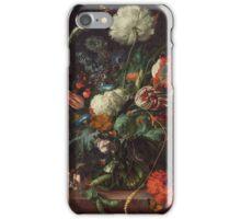 Jan Davidsz de Heem - Vase of Flowers , Flowers , Bouquet of Flowers , Love , Kiss  iPhone Case/Skin