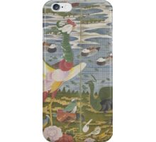 ITO Jakuchu - Animals in the Flower garden.  Japanese Landscape  iPhone Case/Skin