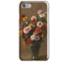 Henri Fantin-Latour - Zinnias 1897-99 iPhone Case/Skin