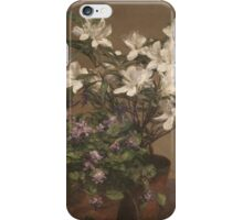 Henri Fantin-Latour - Flowers , Bouquet of Flowers iPhone Case/Skin