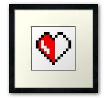 Broken pixel hearth Framed Print