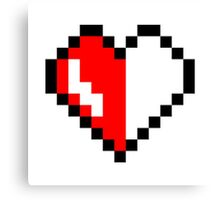 Broken pixel hearth Canvas Print