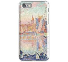 Henri Fantin-Latour - Paul Signac - The Port of Saint-Tropez 1901 - 1902 ,  Seascape  iPhone Case/Skin