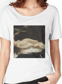 Gustave Courbet - Woman with a Parrot 1866 Women's Relaxed Fit T-Shirt