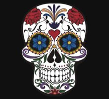 Colorful Sugar Skull One Piece - Long Sleeve